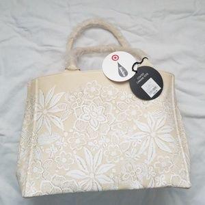 Handbags - Oscar de la Renta floral canvas tote